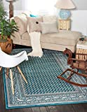 A2Z Rug Traditional Caen Collection Rugs Teal 4′ x 6′ -Feet Area rug For Sale