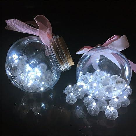 VANKER 100pcs Luz del globo del LED,Electrica Funcionan con Pilas,Perfecto para Fiestas,Boda,Valentín,Arbóles Navidad ect -- Blanco: Amazon.es: Hogar