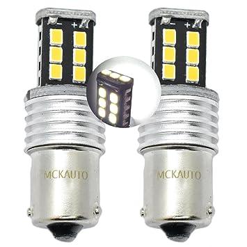 15SMD P21 W blanco inversa Bombillas LED Canbus Luces delanteras y traseras BA15S 1156 eb6r5: Amazon.es: Coche y moto