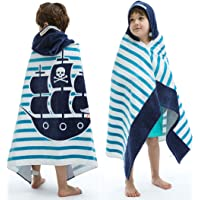 VOOVA & MOVAS Beach Bath Towel with Hood for Kids Toddlers Boys Girls 2 to 7 Years,Oversize Extra Size 50