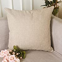 HOME BRILLIANT Burlap Decorative Throw Pillow Euro Sham Pillowcase Cushion Cover, 26