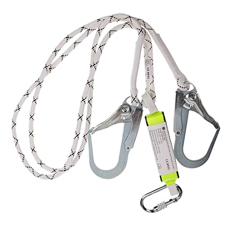 Dovewill Heavy Duty Fall Protection Shock Absorbing Lanyard Safety