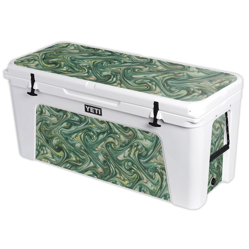MightySkins Protective Vinyl Skin Decal for YETI Tundra 160 qt Cooler wrap Cover Sticker Skins Marble Swirl
