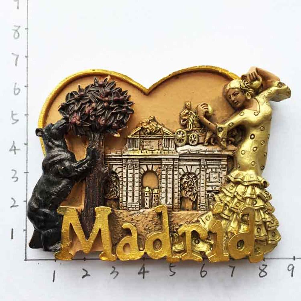 MUYU Magnet Aimant de r/éfrig/érateur en 3D Ours et Arbre /à Fraises Madrid Espagne Souvenir Cadeau de d/écoration pour la Maison et la Cuisine