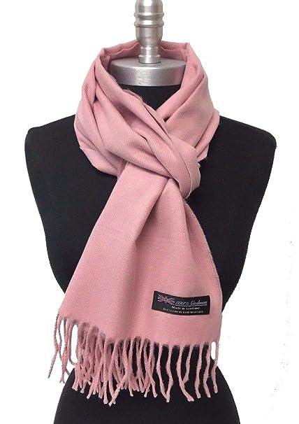 df63e5fd6 Women Girls 100% Cashmere Scarf Scotland Solid Blush Warm Soft Wool Wrap  Pink at Amazon Women's Clothing store: