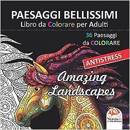 Paesaggi Bellissimi Libro Da Colorare Per Adulti 36 Paesaggi Da
