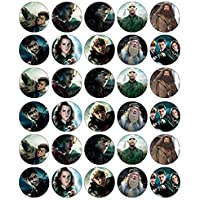 30 obleas comestibles para cupcakes de Harry Potter