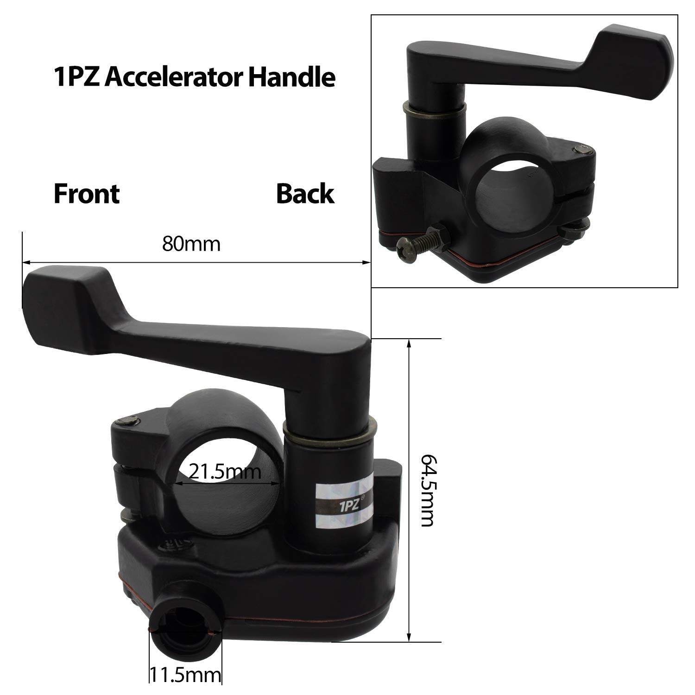 1PZ TA1-S22 7//8 22mm Thumb Throttle Cable Accelerator Handle Assembly For Chinese 50cc 70cc 90cc 110cc 125cc 250cc ATV Quad Go Kart Kazuma TaoTao