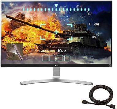 Monitor LG 27UD68-W de 27 pulgadas, 4K 2160P UHD IPS con FreeSync (plateado/blanco) + cable HDMI NexiGo 4K: Amazon.es: Electrónica