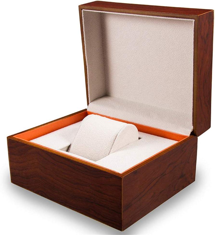 Heqianqian Caja de Reloj Hombres de Negocios Regalo de la joyería Caja de Almacenamiento Mate Cajas de Reloj de Madera Watch Organizer Collection (Color : Brown, Size : S): Amazon.es: Hogar