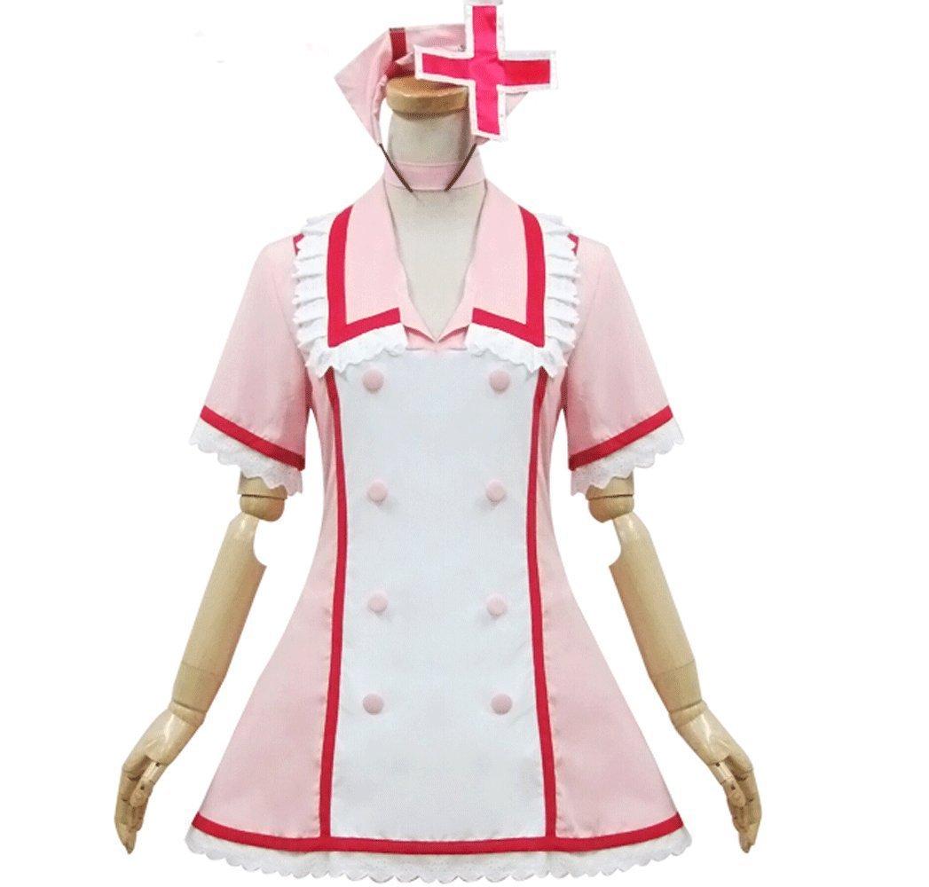 Uniforme de la enfermera Rosa Hatsune Miku Cosplay del traje ...