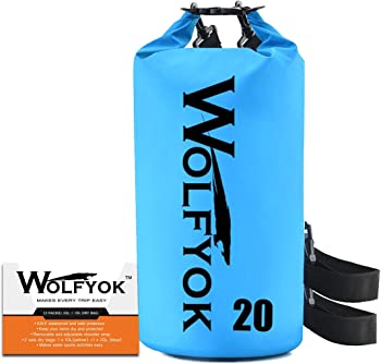 Wolfyok 20-liter Roll Top Duffle Dry Bag