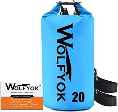 Hiking Beach 10L Roll Top Dry Compression Sack Keeps Gear Dry for Kayaking Floating Waterproof Dry Bag with Adjustable and Removable Shoulder Strap Rafting Camping and Fishing Boating