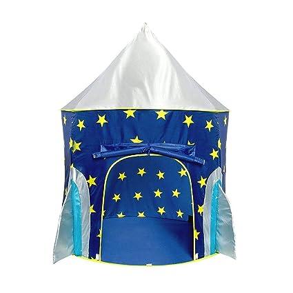 istary Niños tienda – Baby juguete Casa Estrella cohete Candado Proyección cohete Barco parte tienda nave