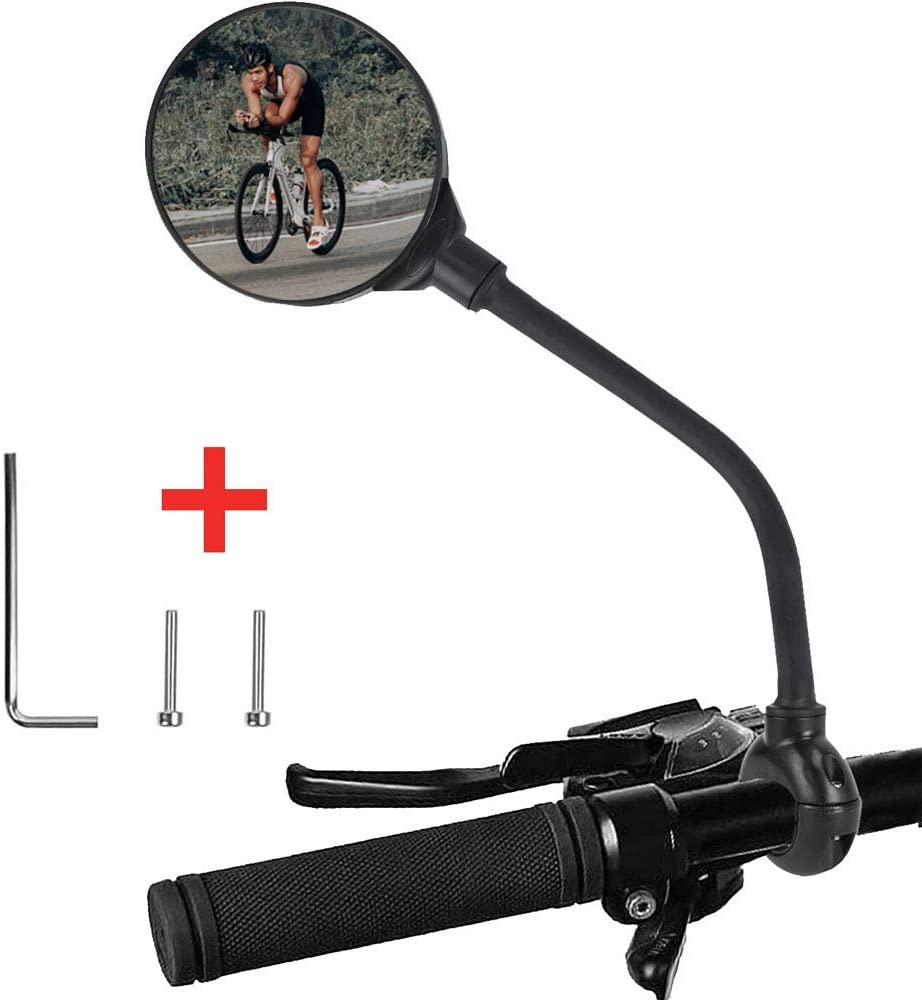 Binudum Bike Mirror Adjustable Rotatable Rear View Glass Convex Mirror Bicycle Mirrors Handlebars for Mtb, Outdoors, Cycling