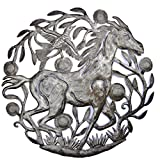 Horse Haitian Metal Art from Recycled Oil Drums 23″ x 23″ Review