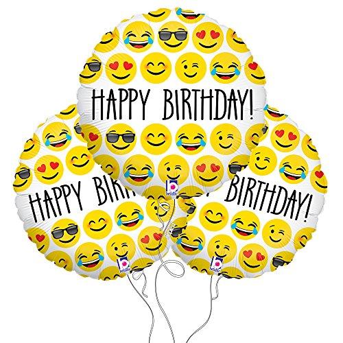 Amazon Happy Birthday Emoji Mylar Balloon 3 Pack Kitchen Dining