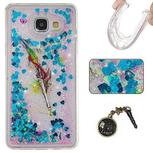 Funda para Samsung Galaxy A5(6) SM-A510F2016, 3D fluido líquido, arenas movedizas estrella brillante lujo brillo purpurina cristal multicolor de amor diseño satisfacción bolsa funda para Samsung Gal 2