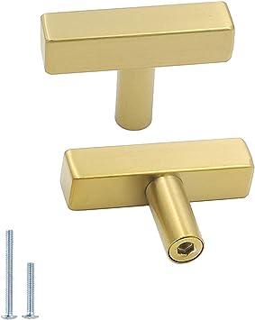 Contemporary Modern Brass Gold Cupboard Drawer Cabinet Door Knobs Handles Pulls