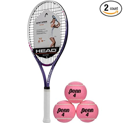 HEAD Ti Instinct Supreme Pink/White Tennis Racquet (4 1/4 Grip)