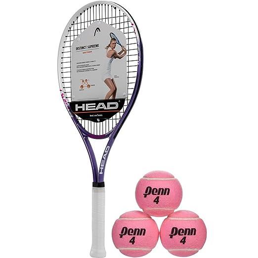 Amazon.com : HEAD Ti Instinct Supreme Pink/White Tennis ...