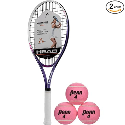 Amazon.com: Head Ti Instinct Supreme rosa/blanco raqueta de ...