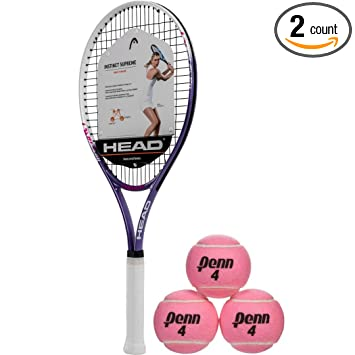 Amazon.com: Head Ti Instinct Supreme rosa/blanco raqueta de ...