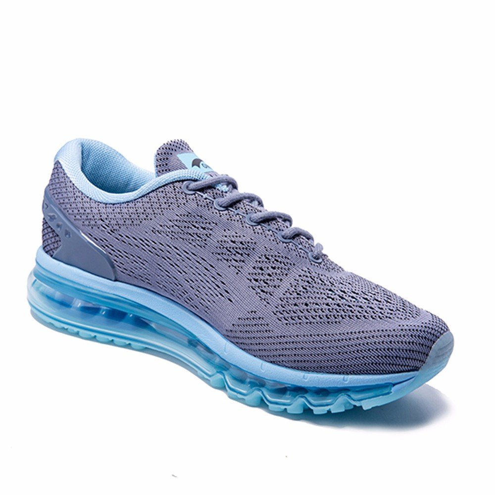 ONEMIX Womens Air Running Shoes,Sloping Tongue 8(M)/Mens Design Sneakers B07BJY4DHG Womens 8(M)/Mens Tongue 6.5(M)US 39EU|Grey/Blue 270ef5