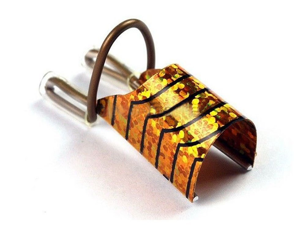 10pcs nail art silver foil reusable acrylic UV gel forms shape french false Gold Grifri