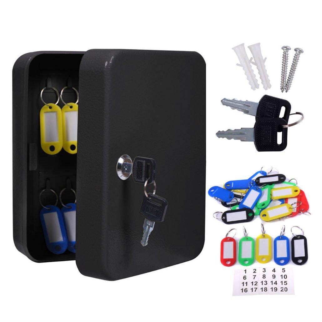 20メタル安全フックキーボックスW /タグホーム車ロックストレージケースキャビネット壁マウント B076SHCHD6