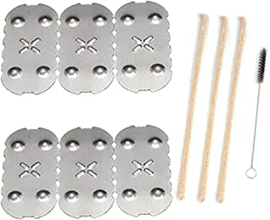 [6 Pack] Screens for Pax 2 Pax 3, [3+1] Pipe Cleaners Hard Bristle and Black Brush for Cleaning
