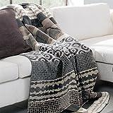 Ben and Jonah Kara Mix Pattern Throw Blanket