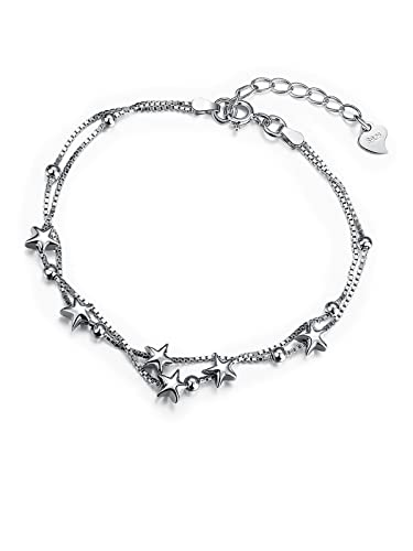 Dainty Delicate Star Adjustment Chain Bracelet with 925 Sterling Silver Friendship Jewellery for Women Teenage Borong SU55U