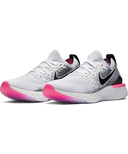51b9a00939a7d Nike Epic React Flyknit 2 Women s Running Shoe White Black-Hyper Pink-Blue