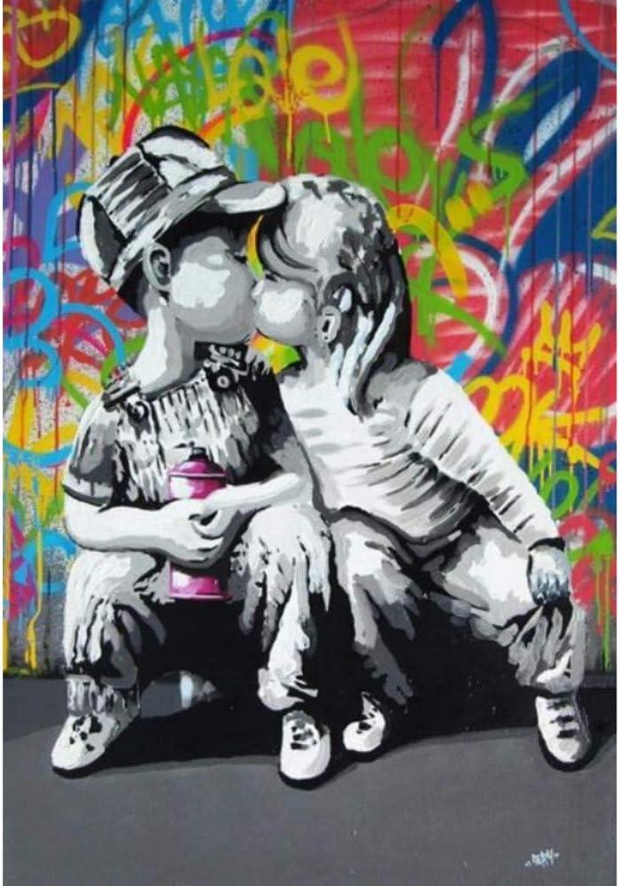 40x60cm xiaoshuaige Modern Street Art Wall Pictures pour Salon Affiches et Impressions Graffiti Art Toile Prints Peintures sur Toile