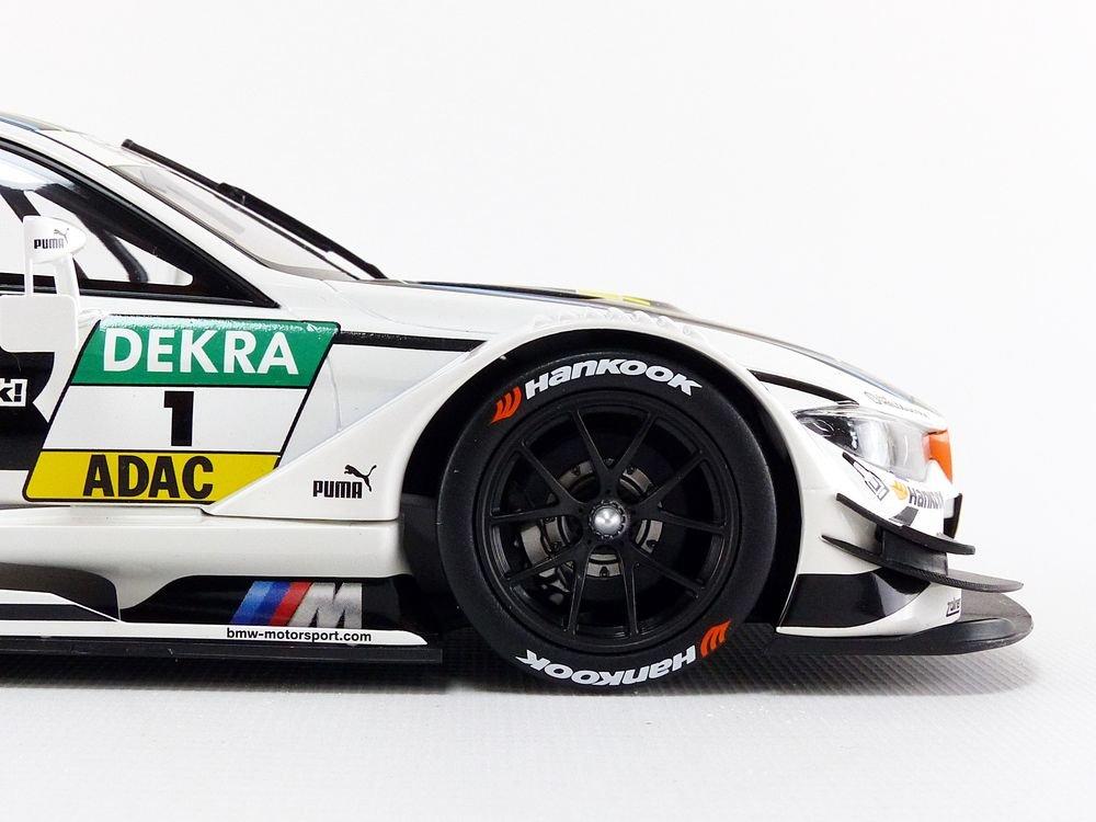 Bianco//Nero 80432405593 Constructor Models/ /Miniatura Auto M4/DTM 2015/BMW Team GMR Scala 1//18
