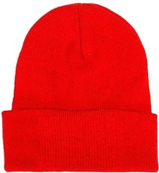 New Bronx Hat Plain Red Football Cap Winter Soft Wool Hat Beanie Hat - Red b01729a75cc