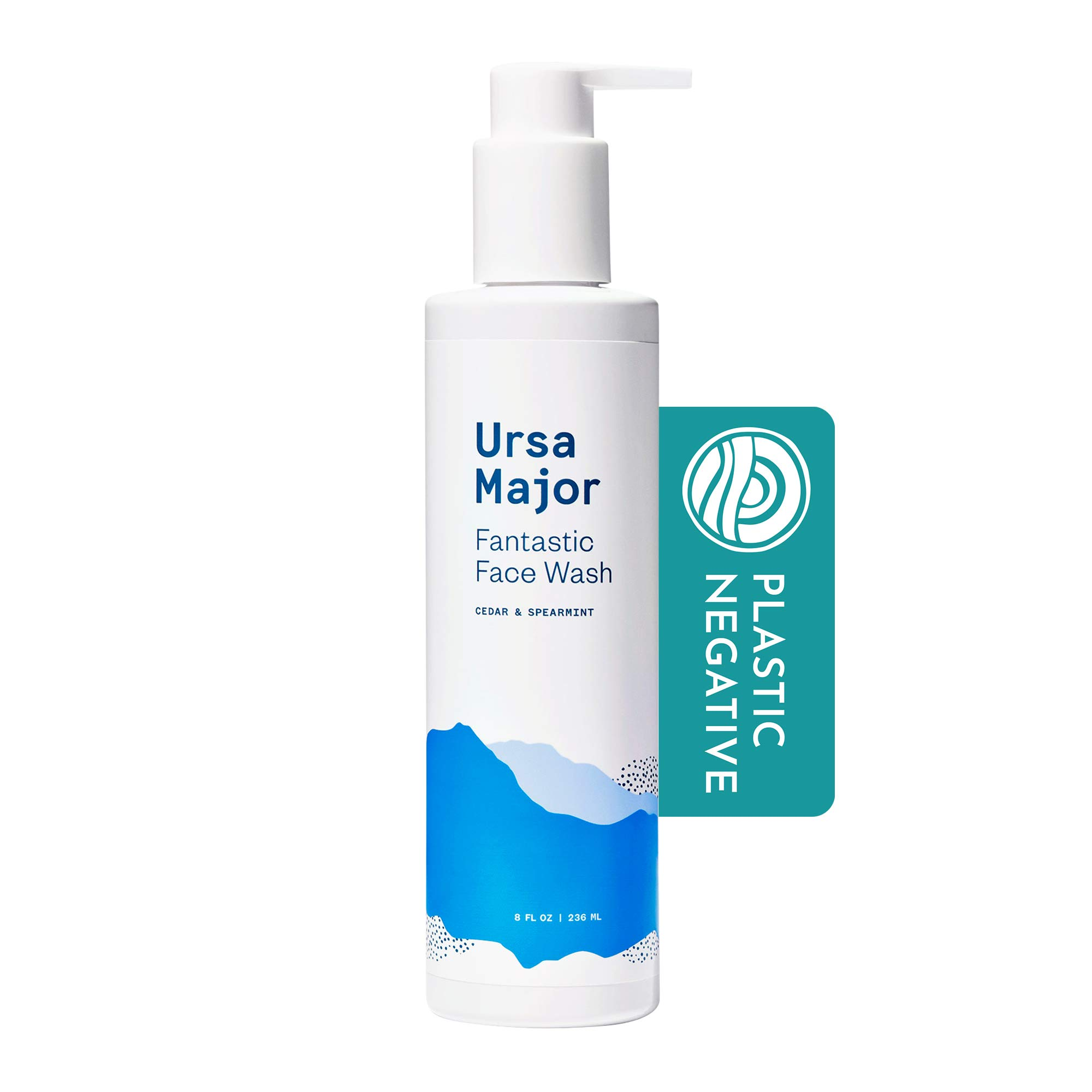 Ursa Major Fantastic Face Wash | Natural, Vegan & Cruelty Free | Daily Foaming Facial Cleanser for Men & Women | 8 ounces