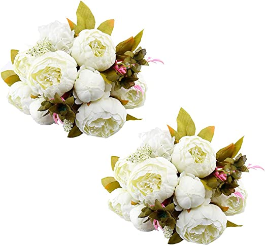 Real Touch Artificial Silk Flowers Bridal Wedding Bouquet Home Decor 13 Heads