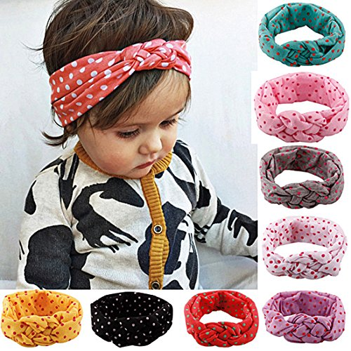 Usa Knot Turban (Lovinglove Baby Girls Cotton Turban Headbands)