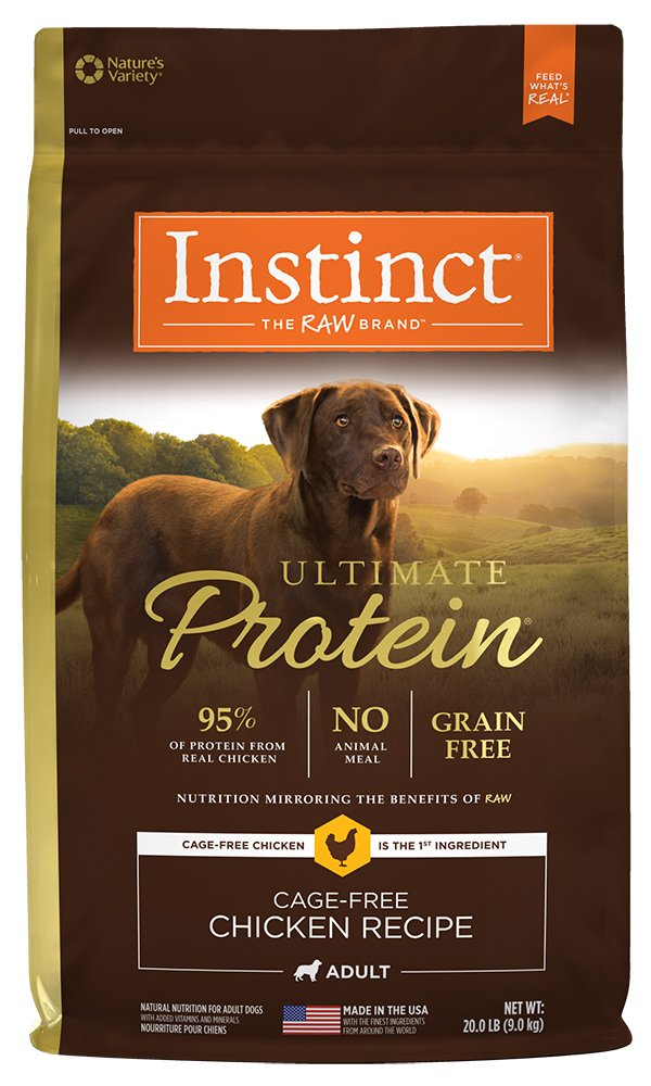 Instinct Ultimate Protein Grain Free Cage Free Chicken Recipe Natural Dry Dog Food by Nature's Variety, 20 lb. Bag