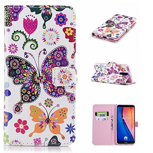 Carcasa Huawei Mate 10 Lite, Huawei Mate10 Lite Funda, Vandot PU Cuero Estuche Libro Funda con Tapa Elegante Funda Piel Cobertura Protectora Carcasa Capa PU Leather Flip Case Cover Phone Shell Bumper  FDCH-5