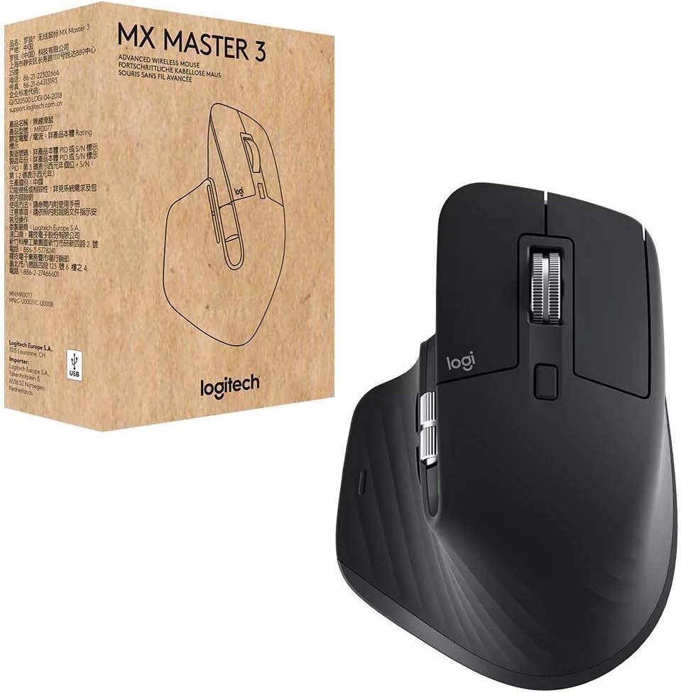 Logitech MX Master 3 - RF inalámbrica + Bluetooth Laser 4000 dpi Mano Derecha