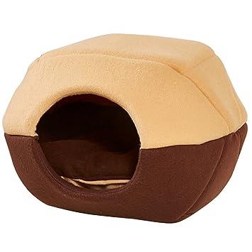 GenialES® Casa de Dormir para Mascotas Caliente de Esponja Suave Cama para Gato Perro Diseño