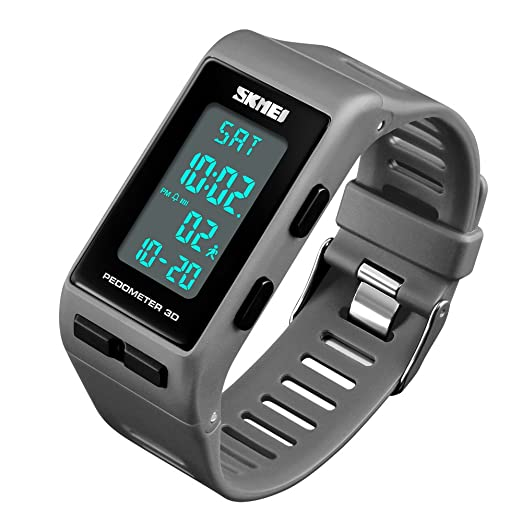 Reloj Deportivo Digital para Hombre, podómetro, Resistente al Agua, para Mujer, Unisex