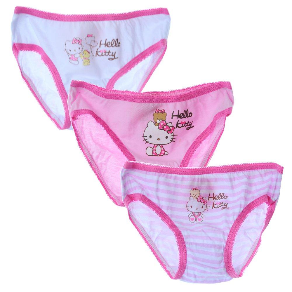 Unterwäsche 3er Set Hallo Kitty Geschenk Unterhosen Mädchen Kinder
