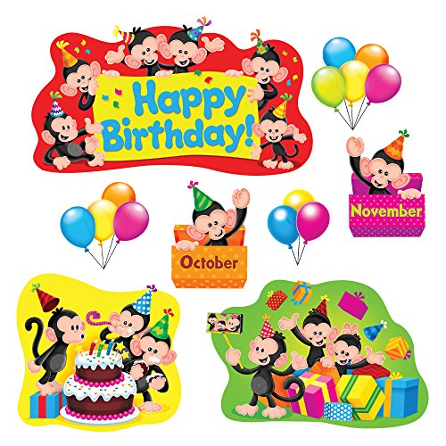 - TREND enterprises, Inc. Monkey Mischief Birthday Bulletin Board Set
