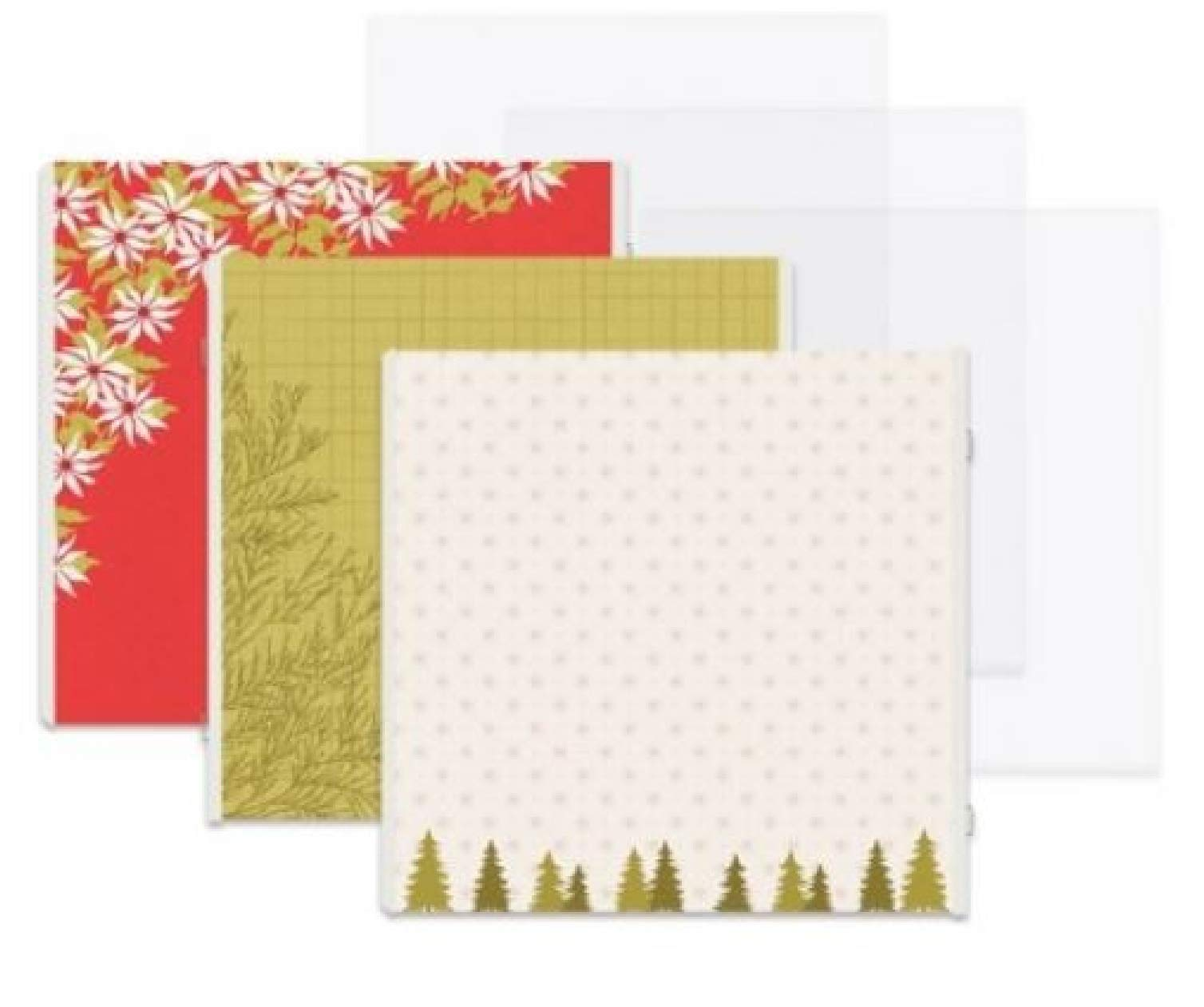 12x12 Antique Red Season's Greeting Christmas Fast2Fab Decorated Refill Pages by Creative Memories 16/pk