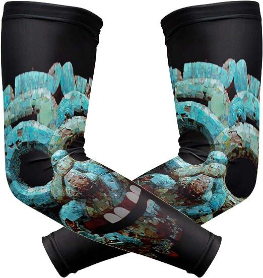 MALPLENA Quetzalcoatl máscara antisol de brazos largos, sin dedos, mangas para el brazo: Amazon.es: Bricolaje y herramientas