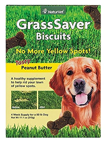 NaturVet GrssSaver Biscuits Peanut Butter Flavor 11.1oz (Pack of Two) ()